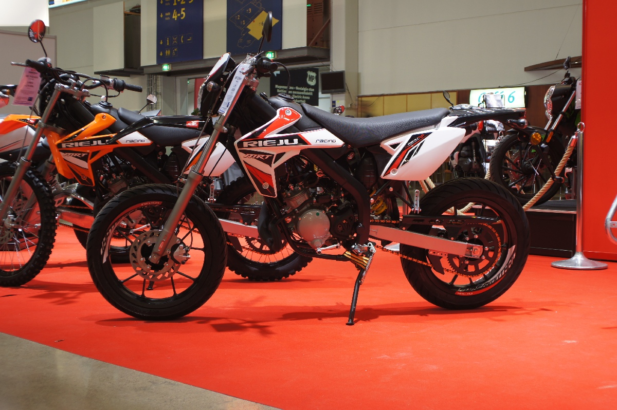 Rieju MRT 50 Motard. MP 12 Motorcycle Show.