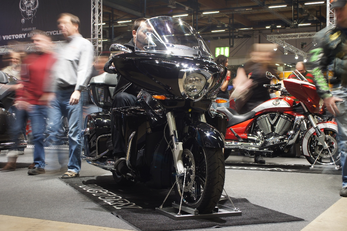 Victory Cross Country Tour. MP 12 Motorcycle Show.